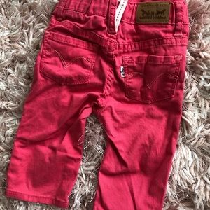 Baby Girl Levi Pink Jeans